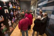 Visitors check out an exhibit at the Heggarty Museum.