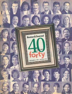 The cover of the 1998 40 Under 40 awards section.