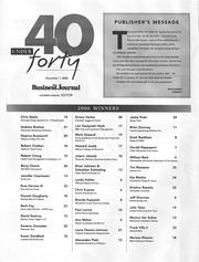 A list of the 2000 Class of 40 Under 40 winners.
