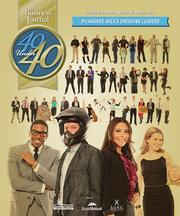 The cover of the 2013 40 Under 40 awards section