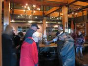 Guests tour the Iron Horse Hotel, 500 W. Florida St.