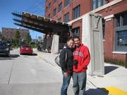 Leslie and Zach Scott from Waukesha outside of the Iron Horse Hotel.