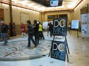 People gathered at Milwaukee City Hall early Saturday to get tickets for some of the in-depth tours.