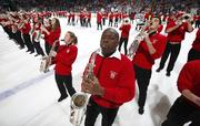 The Wisconsin Badgers popular marching band made an appearance at a game this season.