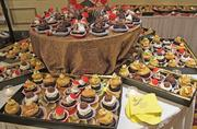 Guests dined on delicious cupcakes.