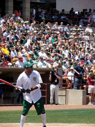 Green Bay Packers wide receiver Donald Driver at the plate.