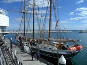The Denis Sullivan Schooner, docked at Discovery World at Pier Wisconsin, welcomed visitors during the event.