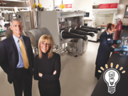 Education: Johnson Controls Inc. for its partnership with University of Wisconsin-Milwaukee. At left, UWM chancellor Michael Lovell with Johnson Controls' Mary Ann Wright