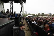 Fitz and the Tantrums on stage during Rock the Green