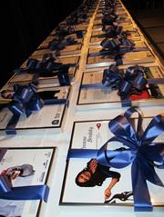 The winners all received a framed article from the Feb. 24 special awards section.