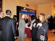 Guests networked prior to the awards dinner.