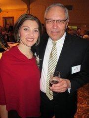 Forty under 40 winner Kara Kaiser, of BMO Harris Bank, with Larry Krause.