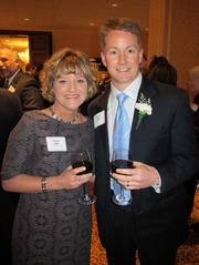 Forty under 40 winner David Gay, of Ernst & Young, with Jackie Gay.