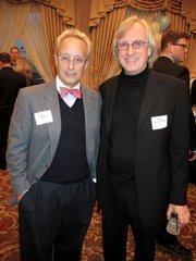 Mandel Group president Barry Mandel (left) with Bob Greenstreet, of the city of Milwaukee.