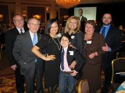 Forty under 40 winner Yvonne Brodsky, of Froedtert Health, with some of her guests.