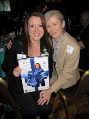Forty under 40 winner Dawn Nuoffer (left), of Center for Veterans Issues, with Susan Wulf.