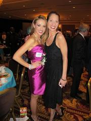 Forty under 40 winner Anna Zuckerman with Business Journal broadcast reporter Wendy Strong.