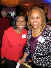 Nina Johnson, of Guaranty Bank (left), with Connie Palmer, of My Home Your Home