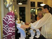 Customers check out products at Stephanie Horne Boutique on Broadway in the 3rd Ward.