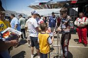 Fans were able to meet some of the Indy car drivers and get autographs before the race.