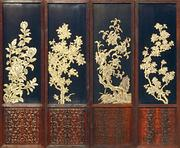 The reverse side of screens of jade and lacquer, unseen even in the days of the emperor, will be on display at the Milwaukee Art Museum.