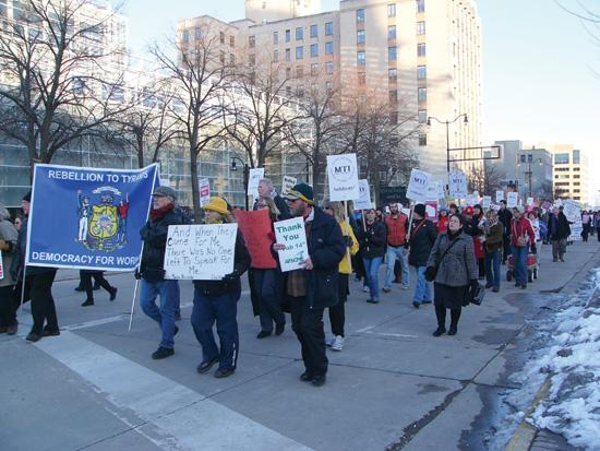 Act 10 set off massive protests by labor unions and their supporters in Madison in 2011.