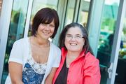 (From left) Angela Mancuso and Carmen Pitre, Sojourner Family Peace Center