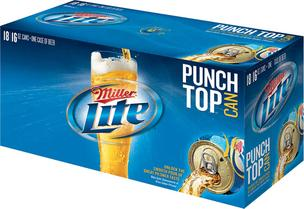 MillerCoors is rolling out a new punch-top can for its Miller Lite brand.