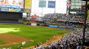 Fans at Miller Park cheering before the game.