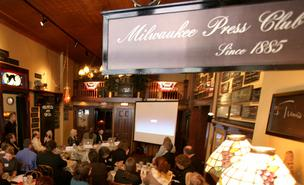 Assembly Speaker Robin Vos spoke at a Milwaukee Press Club luncheon Monday.