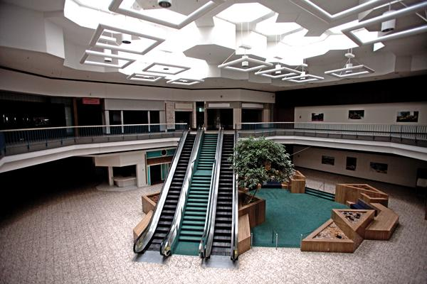 The interior of the former Northridge Mall remains much the same as it did when it closed in 2003.