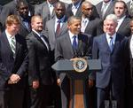 Obama brings out the jokes for Packers' visit