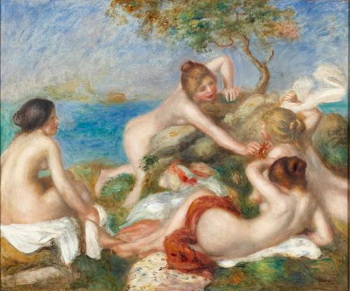 """If Green Bay wins the Super Bowl, the Carnegie Museum of Art will loan Pierre-Auguste Renoir's """"Bathers with Crab"""" to the Milwaukee Art Museum."""
