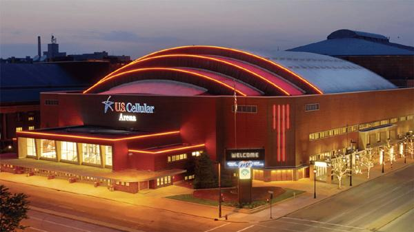 The U.S. Cellular Arena in downtown Milwaukee