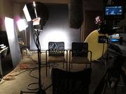 The studio where each winner was interviewed for her video.