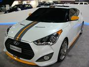 Hyundai's decked-out 2013 Veloster Turbo gets 38 miles per gallon.