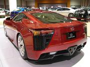 Lexus, trying to show that it is more sporty than stodgy, displays its LFA 2012 model. This speed demon retails at more than $100,000, but boasts 550 horsepower and can go from 0 to 60 miles-per-hour in 3.6 seconds.