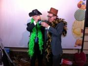 Roger Pillsbury (right), vice chairman of The PrivateBank-Wisconsin, has fun at the party.