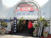 Marcus Hotels & Resorts, a major sponsor of the race, had its own VIP tent near the race track.