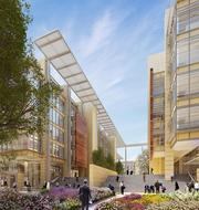 ExxonMobil's office complex is under construction in Houston and is to be completed in 2015. Covering a 385-acre site, the project features many low-rise office buildings.