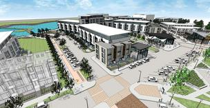 A rendering of Drexel Town Square