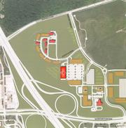 The ABB building would be south of the new apartments Mandel Group Inc. plans to build in Innovation Park.