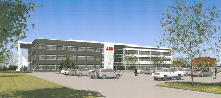 Rendering of the ABB Ltd. building in the University of Wisconsin-Milwaukee's Innovation Park in Wauwatosa.
