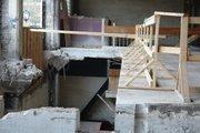 Contractors built protective barriers around the drop-offs.