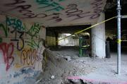 Like other Milwaukee buildings that were left vacant, the former mall has been tagged with graffiti.