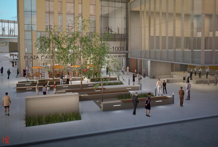 The project includes a new outdoor restaurant and garden area on the corner of North Water and West State streets in downtown Milwaukee.