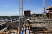 At its full 18-story height, the hotel will be slightly shorter than the emissions stacks on the We Energies power plant in the Menomonee Valley.