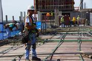 About 70 construction workers are currently on the site each day.