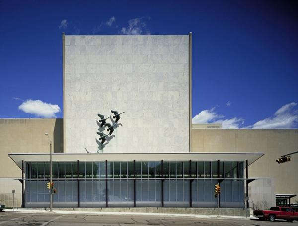 The Milwaukee Public Museum's south wall facade as it now appears