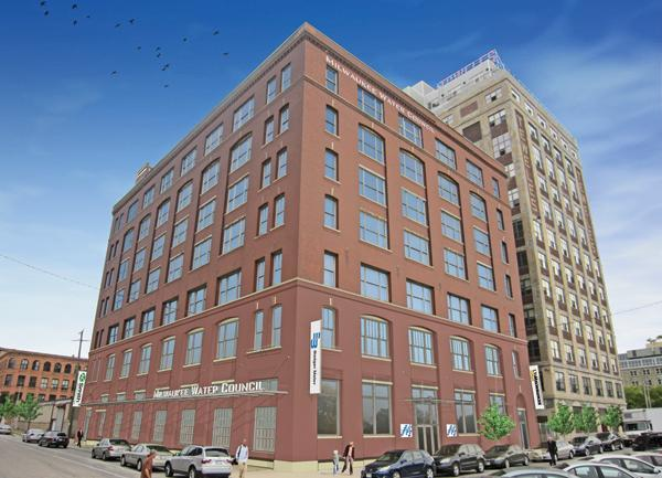 The Milwaukee Water Council has begun a $22 million renovation of a 98,000-square-foot, seven-story warehouse loft in the 5th Ward for a water-related research and business accelerator center.